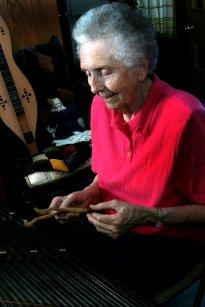 Patty playing dulcimer
